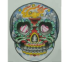 Sacred Heart Sugar Skull Photographic Print