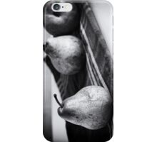 pears in black and white iPhone Case/Skin