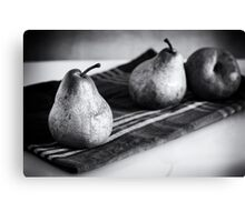 pears in black and white Canvas Print