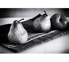pears in black and white Photographic Print