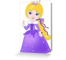 Cute Princess in a violet dress Greeting Card