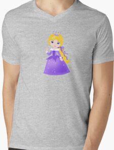 Cute Princess in a violet dress Mens V-Neck T-Shirt
