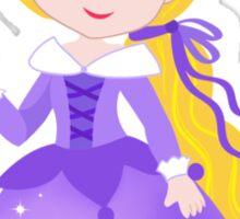 Cute Princess in a violet dress Sticker