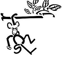 Swinging Monkey by Kida-Lee