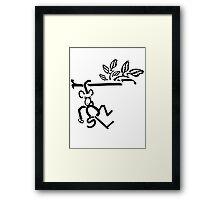 Swinging Monkey Framed Print