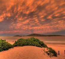 Fingal Bay Sunset by saltwatershots