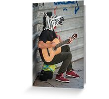 Zebra with a Guitar Greeting Card
