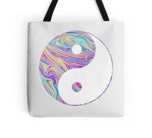 Rainbow Swirl Yin Yang Tote Bag