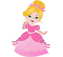Funny Princess in a pink dress Photographic Print