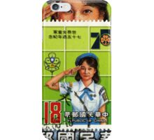 Vintage Republic of China Girl Scouts Stamp iPhone Case/Skin