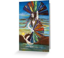 Rainbow Goddess after the Rain Greeting Card