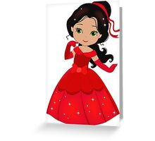 Beautiful Princess in a red dress Greeting Card