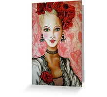 rose lady Greeting Card