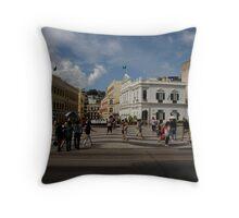 Macau Street Scene Throw Pillow