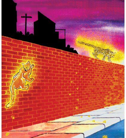 Big Cats In Suburbia Sticker