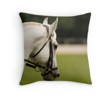 lipizanner horse in Slovenia Throw Pillow
