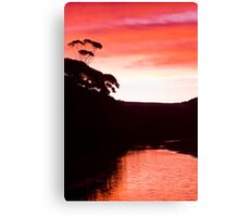 Sunset over the Thurra - Croajingolong National Park  Canvas Print