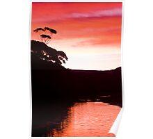 Sunset over the Thurra - Croajingolong National Park  Poster