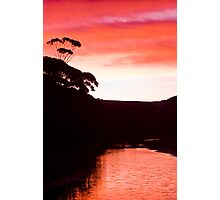 Sunset over the Thurra - Croajingolong National Park  Photographic Print