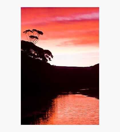 Sunset over the Thurra - Croajingolong National Park  Photographic Print