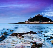 St Michaels Mount at dawn by Lawrence Duru