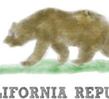 Watercolor California Flag Sticker