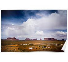 Monument Valley in the Spring Poster