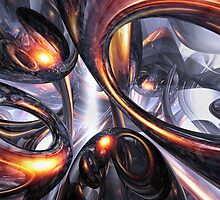 Rippling Fantasy Abstract by Alexander Butler