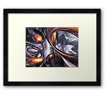 Rippling Fantasy Abstract Framed Print