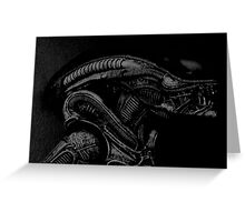 Xenomorph Greeting Card