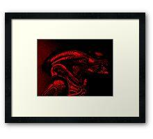 Xenomorph (Red) Framed Print