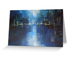 River - Abstract Landscape Greeting Card