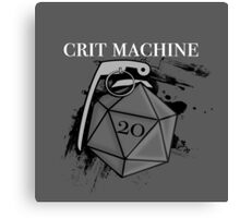 D20 Crit Machine Canvas Print