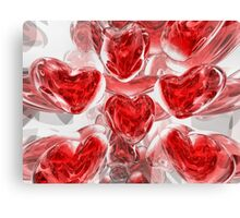 Hearts Afire Abstract Canvas Print