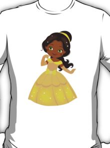 African American Beautiful Princess in a yellow dress T-Shirt