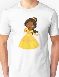 African American Beautiful Princess in a yellow dress Unisex T-Shirt