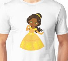 African American Beautiful Princess in a yellow dress Unisex T-Shirt