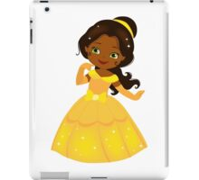 African American Beautiful Princess in a yellow dress iPad Case/Skin
