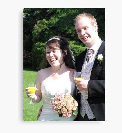 Bride & Groom 1 Canvas Print