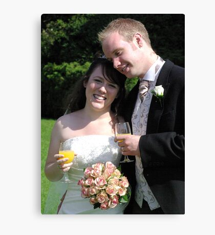 Bride & Groom 2 Canvas Print