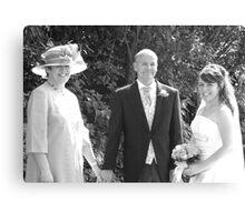 Bride & Parents Canvas Print