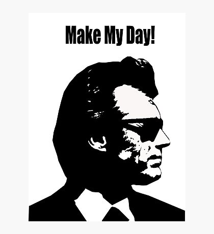Clint Eastwood Dirty Harry Make My Day Photographic Print