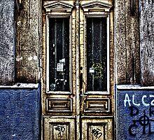 Abandoned White Door Fine Art Print by stockfineart