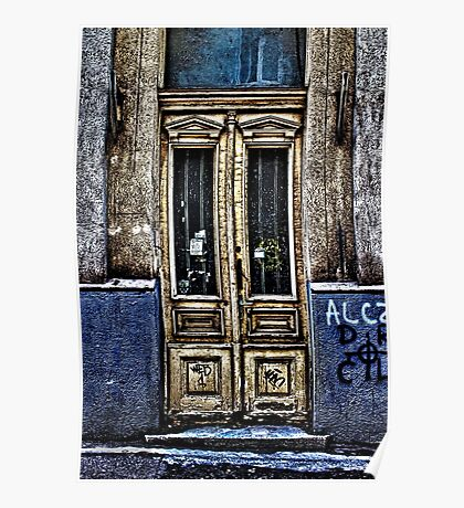 Abandoned White Door Fine Art Print Poster