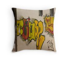 Mykonos Graffiti Throw Pillow
