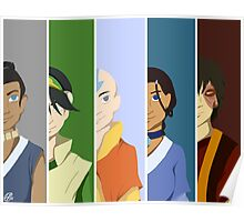 Team Avatar: The Last Airbender Poster