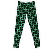Black and Mint Pattern Leggings