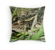 Amongst the Lillypads Throw Pillow