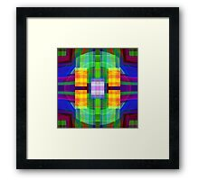Be Happy, abstract fractal design Framed Print