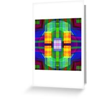 Be Happy, abstract fractal design Greeting Card